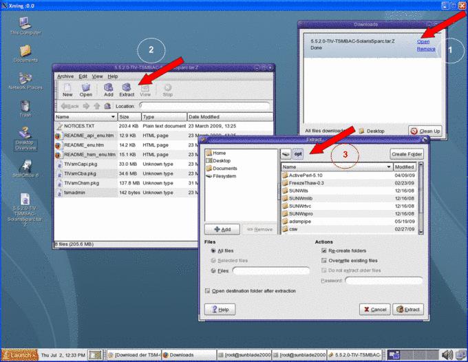 Set up TSM Client using Solaris: Communication, Information and
